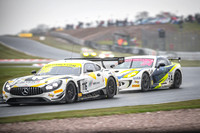 Mercedes GT Car is trailed by a toyota
